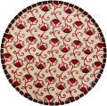 Artist's Loom Hand-tufted Contemporary Floral Wool Rug (7'9 Round)