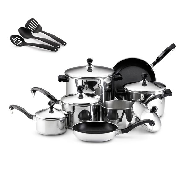 Farberware Classic Stainless Steel 15-piece Cookware Set ...