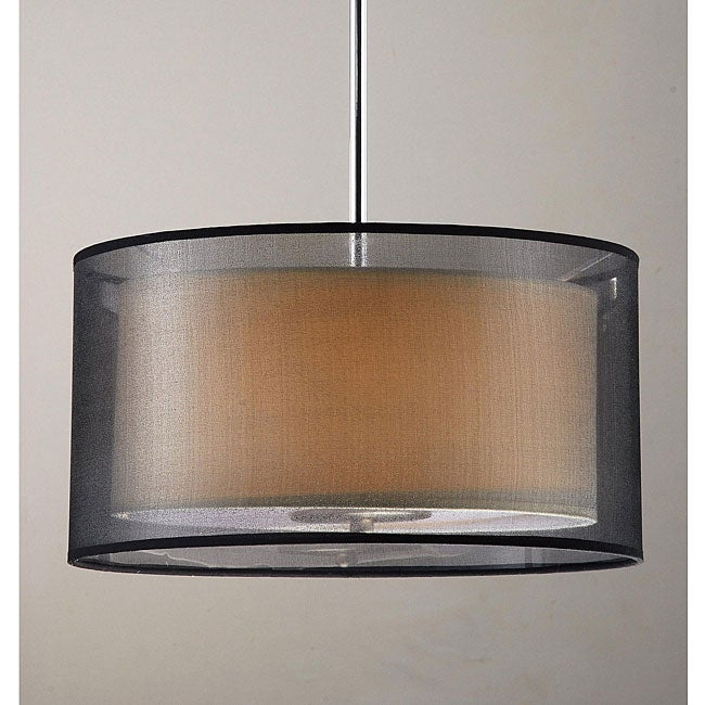 Simple Elegance 3-light Chrome Pendant and Ceiling Mount Chandelier - Thumbnail 0
