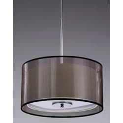 Simple Elegance 3-light Chrome Pendant and Ceiling Mount Chandelier - Thumbnail 1