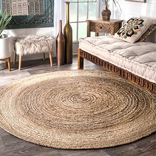 nuLoom Reversible Natural Fiber Jute Rug (6' Round)|https://ak1.ostkcdn.com/images/products/5252436/P13072748.jpg?impolicy=medium