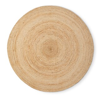 Havenside Home Duck Reversible Natural Fiber Jute Area Rug (6' Round) - 6' (2 options available)