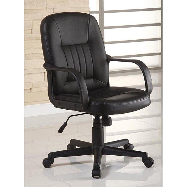 Shop Ergonomic Black Leather Executive Office Chair Free