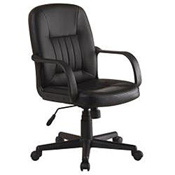 Ergonomic Black Leather Executive Office Chair - Thumbnail 1