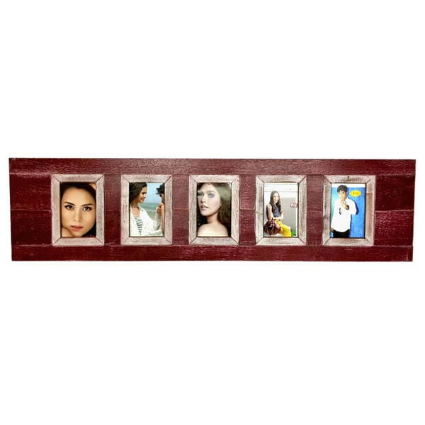Boat Wood Seaside Green 5-picture Frame (Thailand)