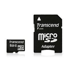 Transcend 8GB microSD High Capacity (microSDHC) Card - Class 2