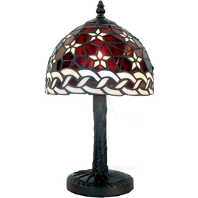 tiffany style warehouse of tiffany mini lamp free shipping today. Black Bedroom Furniture Sets. Home Design Ideas