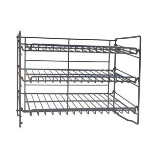 DarLiving Atlantic Silver Steel Can Rack