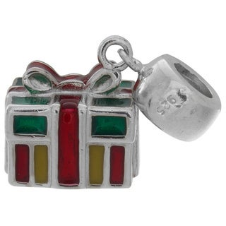 Sterling Essentials Sterling Silver Christmas Gift Charm