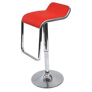 Flat Adjustable Chrome Swivel Stool