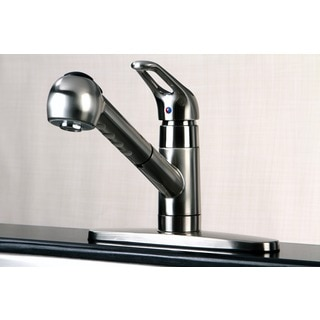 Century Satin Nickel Pullout Kitchen Faucet