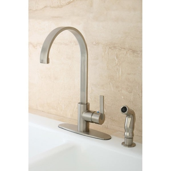 Kingston Brass Continental Modern Satin Nickel Kitchen Faucet