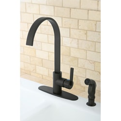 Kingston Brass Continental Modern Oil Rubbed Bronze Kitchen Faucet