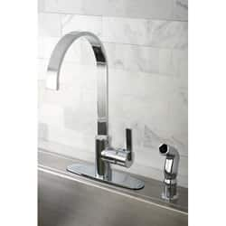 kitchen faucets. Kingston Brass Continental Modern Chrome Centerset Kitchen Faucet Faucets For Less  Overstock com