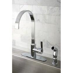 Kingston Brass Continental Modern Chrome Centerset Kitchen Faucet