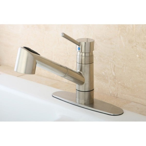 Wilshire Satin Nickel Pullout Kitchen Faucet