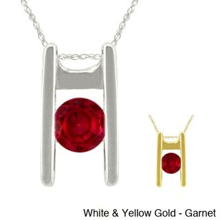 10k Gold Birthstone Ladder Necklace