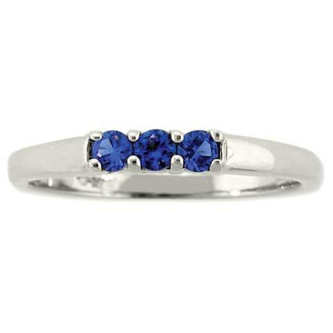 10k Gold Birthstone Designer 3-stone Ring