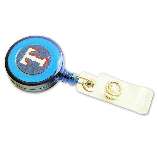 Texas Rangers Retractable ID Badge Clip