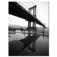 Yale Gurney 'Manhattan Bridge - The Reflects' Canvas Art