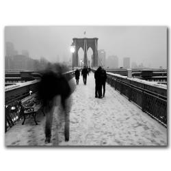 Yale Gurney 'Love on the Brooklyn Bridge' Canvas Art