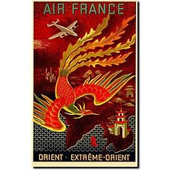 Lucien Boucher 'Air France Orient Extreme' Canvas Art