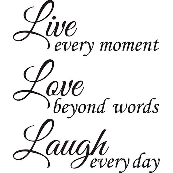 Shop Design On Style Live Love Laugh Vinyl Wall Art