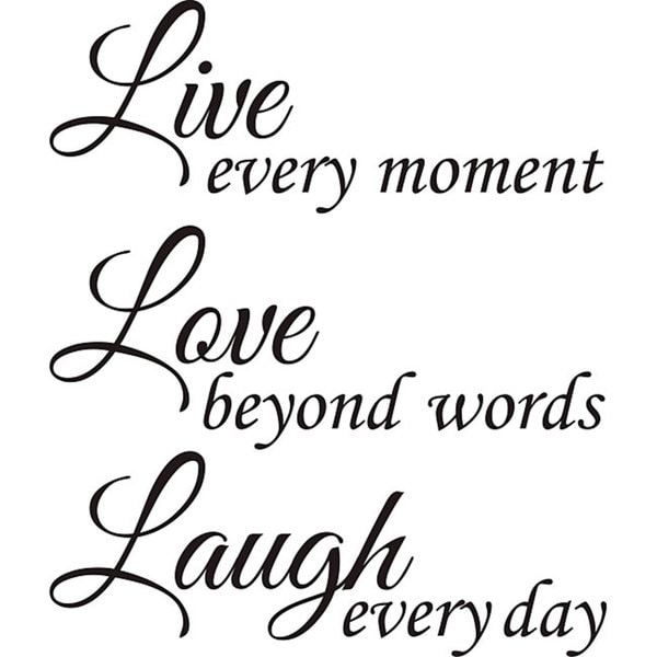 Shop Design On Style Live Love Laugh Vinyl Wall Art Quote Free