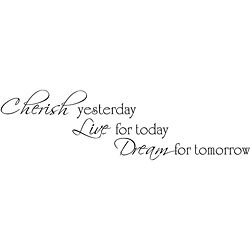 Design on Style 'Cherish, Live, Dream' Vinyl Wall Art Quote
