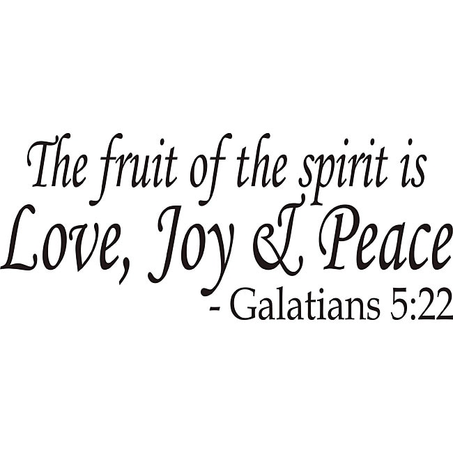 Shop Design On Style The Fruit Of The Spirit Bible Verse