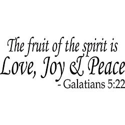 Design on Style 'The Fruit of the Spirit' Bible Verse Vinyl Wall Art Quote
