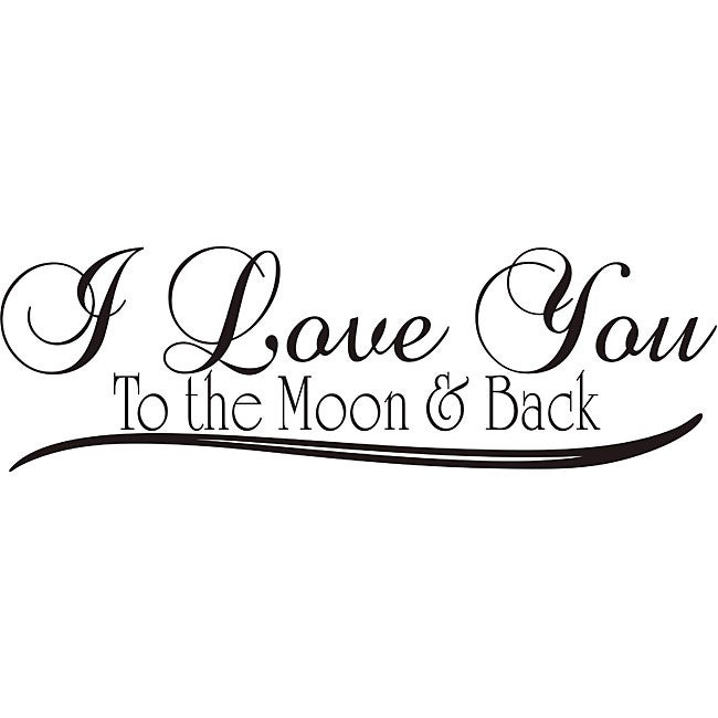 I Love You To The Moon And Back Wall Art design on style 'i love you to the moon and back' vinyl wall art