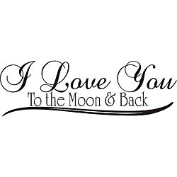 Design on Style 'I Love You to the Moon and Back' Vinyl Wall Art Quote
