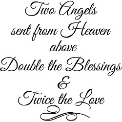 Design on Style 'Two Angels Sent From Heaven Above' Vinyl Wall Art Quote
