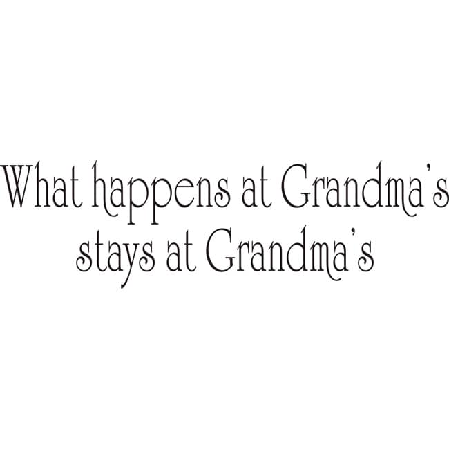 Design on Style 'What Happens at Grandma's' Vinyl Wall Art Quote