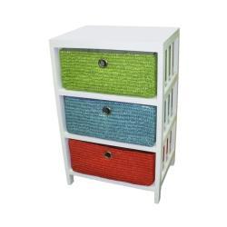 Wicker Basket Storage Shelf
