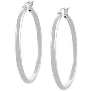 Journee Sterling Silver 45-mm Hoop Earrings (3 options available)