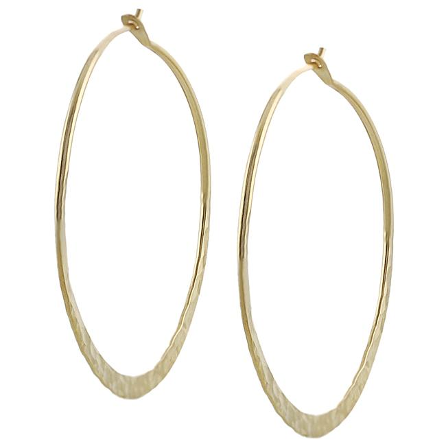 Goldfill 40-mm Hammered Hoop Earrings
