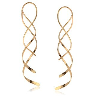 Goldfill Handmade Spiral Dangle Earrings
