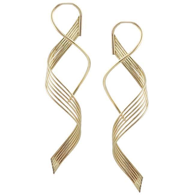 Goldfill Six-strand Spiral Earrings
