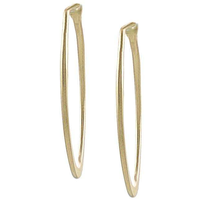 Goldfill 46-mm Flat Oval Hoop Earrings