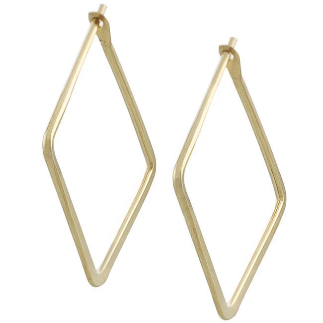 Goldfill 22 Mm Flat Square Hoop Earrings
