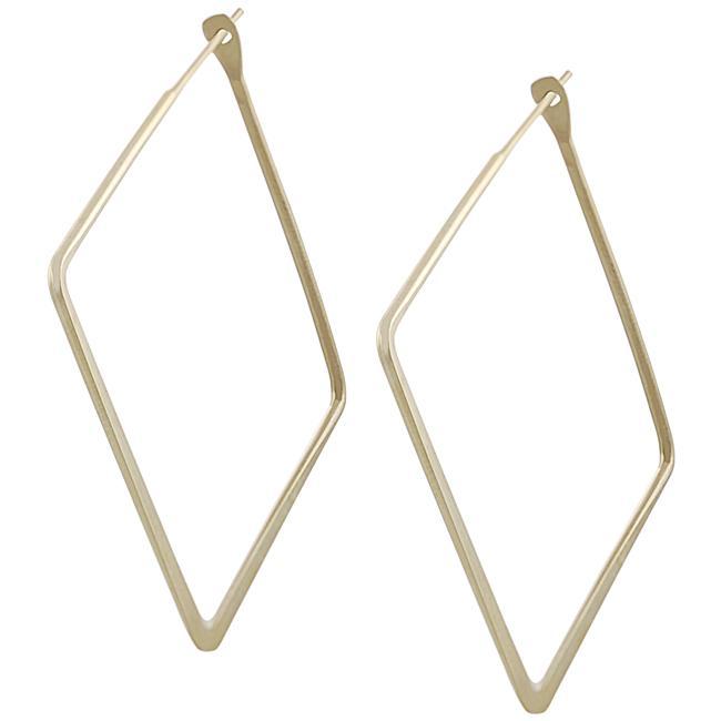 Goldfill 34-mm Flat Square Hoop Earrings