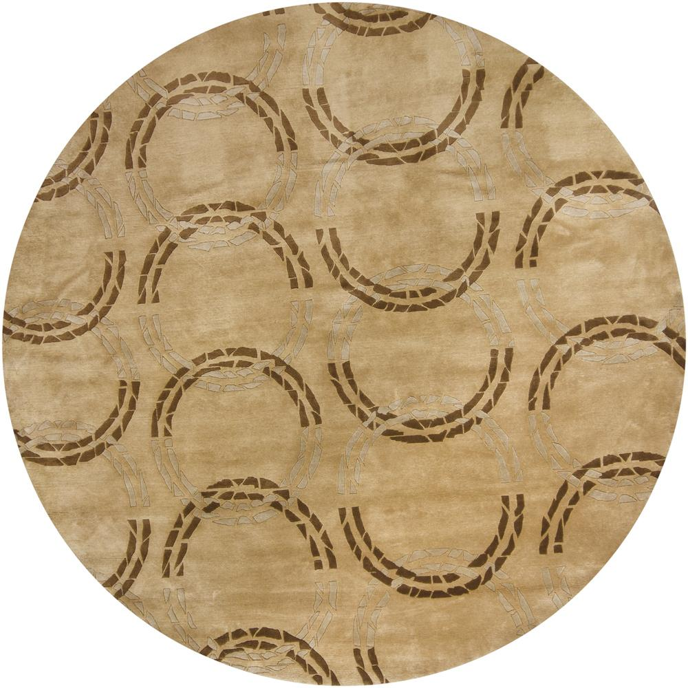 Artist's Loom Hand-knotted Contemporary Geometric Rug - 7'9