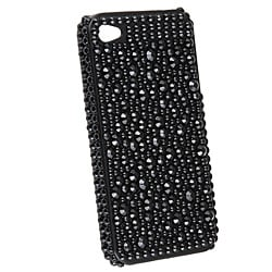 INSTEN Silver Diamond Snap-on Phone Case Cover for Apple iPhone 4 - Thumbnail 1