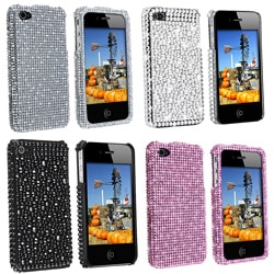 INSTEN Silver Diamond Snap-on Phone Case Cover for Apple iPhone 4 - Thumbnail 2