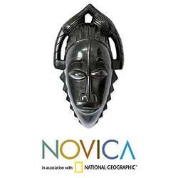 Sese Wood 'Anii Maiden' Ivoirian Mask (Ghana)