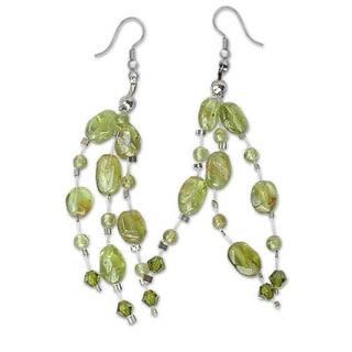 Handmade Peridot 'Lime Drops' Waterfall Earrings (Thailand)