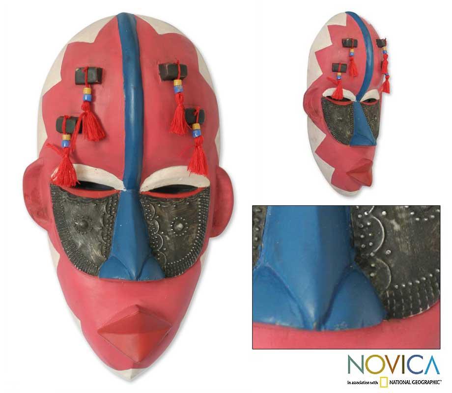 Sese Wood 'Protective Motherhood' Ewe Mask (Ghana)
