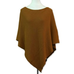 Women's Cotton 'Cocoa Grace' Poncho (Guatemala)